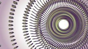 流体运动的转动的绿色金属链子眼睛盘旋无缝的圈动画3d行动图表背景新的质量 皇族释放例证