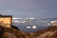 流冰北极格陵兰 库存照片