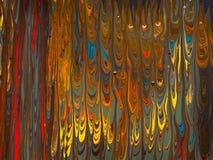 在帆布的流动的五颜六色的混杂的油漆 免版税图库摄影