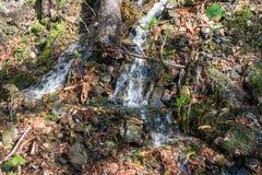 流动下来从山的小河 免版税库存图片