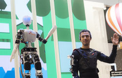 流动世界国会2015年-机器人 库存照片