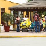 流动冰淇凌供营商在Barranco,利马,秘鲁 免版税库存图片