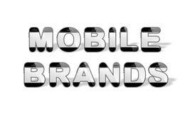 流动品牌设计与智能手机塑造了字母表信件 免版税库存图片