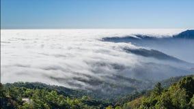 流动在谷的时间间隔美丽的薄雾 影视素材