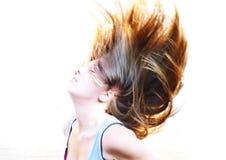 流动头发 免版税图库摄影