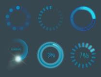流动应用设计网互联网装货接口的传染媒介象下载媒介按钮 库存图片