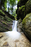 流动淡水的小河下来 免版税库存照片