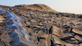 流动火山的熔岩下来 影视素材
