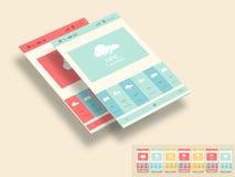 流动用户界面的时髦的模板 免版税库存图片