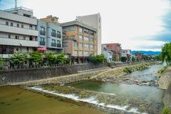 流动的人造水路 免版税库存图片