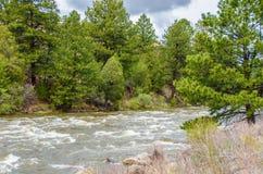 流动的山水 库存照片