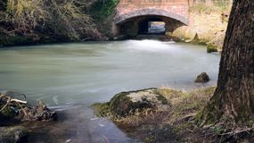 流动的河Cherwell 免版税库存图片