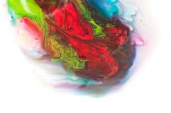 流动的油漆 库存照片