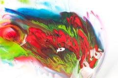 流动的油漆 免版税库存图片