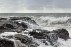流动的海水 免版税库存图片