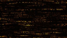 流动的矩阵数字金小点使行动背景成环 皇族释放例证
