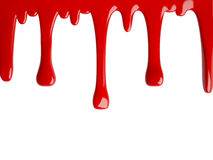 流动的红色油漆, 3D 免版税图库摄影