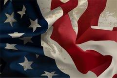 流动的美国国旗 库存图片