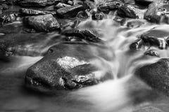 流动的水黑白纹理  免版税库存照片