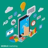流动营销,广告,促进传染媒介概念 免版税库存图片