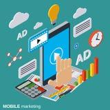 流动营销,广告,促进传染媒介概念 免版税库存照片