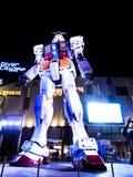 流动衣服Gundam模型,东京,日本 免版税库存照片