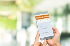 流动银行业务互联网 免版税库存图片