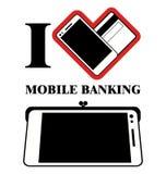 流动银行业务商标设计传染媒介 库存照片