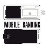 流动银行业务商标设计传染媒介 库存图片