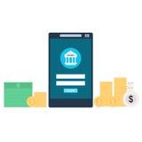 流动银行业务概念例证 库存照片