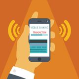 流动付款的传染媒介概念在智能手机的 免版税库存图片