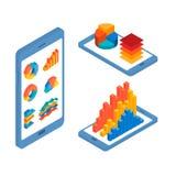流动infographic设计的概念 免版税库存照片