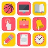 流动OS的干净和简单的教育象 向量例证