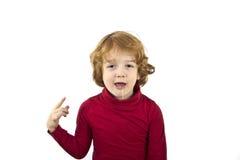 流口水的孩子 免版税图库摄影