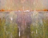 流喷泉水 库存图片