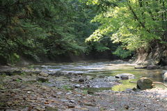 流在Cuyahoga谷国家公园 库存图片