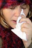 流感憔悴 库存图片