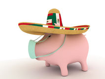 流感猪 免版税库存图片