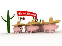 流感猪 免版税库存照片