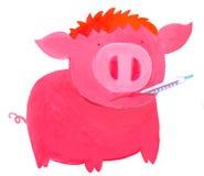 流感猪 免版税图库摄影
