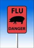 流感符号猪 库存图片