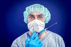 流感预防针 免版税库存图片