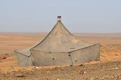 流浪的沙漠撒哈拉大沙漠帐篷 库存照片