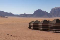 流浪者的沙漠阵营,瓦地伦沙漠在约旦,中东 库存图片