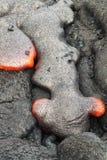 流热熔岩红色 库存照片