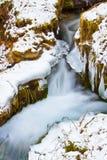 流的冰雪水 免版税图库摄影