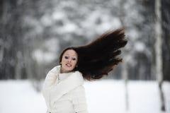 流的女孩头发 免版税库存图片