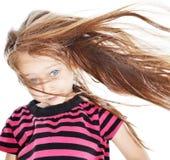 流的女孩头发 免版税库存照片