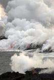 流的熔岩海洋 库存照片