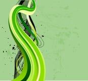 流的绿色波浪 向量例证